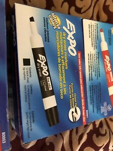 Lot Of 5 Boxes Of 12 Pack Expo Dry Erase Markers black Red Blue Green