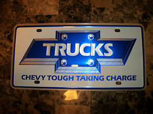 Nos Bowtie Chevrolet Pickup Trucks Gm Dealer Dealership License Plate Nice