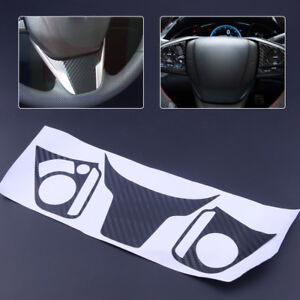 Carbon Color Steering Wheel Emblem Sticker Badge Cover Fit For Honda Civic 16 17