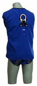 3m Safety Tux Work Vest Harness Fall Protection Extra Large Blue Jacket Xl