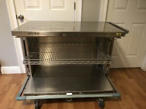 Metro Stainless Steel Cart Cabinet Restaurant Lab Medical Hospital Bar Free Ship