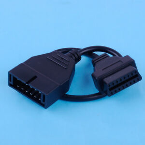 For Gm 12 Pin Obd1 To 16 Pin Obd2 Convertor Adapter Cable Diagnostic Scanner