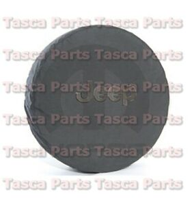 Oem Black Denim W Jeep Logo Spare Tire Cover 2007 2013 Jeep Wrangler 82209949ab