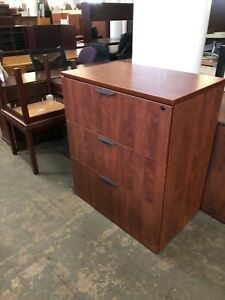 3 Drawer Lateral Size File Cabinet By Marquis Office Furniture In Cherry Lamin