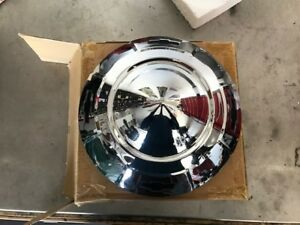 Nos Chrome Hubcap For 1957 1958 1959 Chevy 3 4 And 1 Ton Trucks