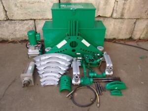 Greenlee 885 Hydraulic Bender 1 1 4 To 5 Electric 960 Pump 1802 Bending Table