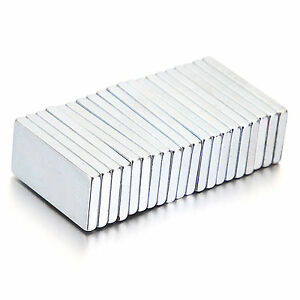 New 5 10 20pcs Super Strong Block Fridge Magnets Rare Earth Neodymium 20x10x2mm