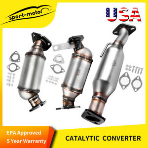 3pcs Catalytic Converter Set For 09 17 Buick Enclave Chevy Traverse Gmc Acadia