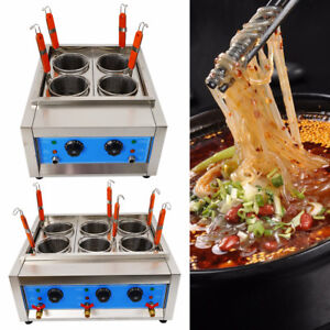 Commercial 6 Holes Noodles Cooker Electric Pasta Cooking Machine Pasta Marker