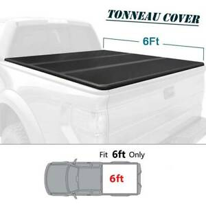 For Toyota 2005 2015 Tacoma 6ft Bed Frp Hard Solid Tri Fold Tonneau Cover Rear