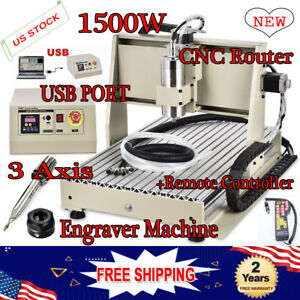 1 5kw 3 Axis Cnc 6040 Usb Router Engraver Dril Mill 3d Carving Cutting Machine