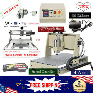 4 Axis Cnc 6040 1500w Engraver 3 Axis Mini Router Engraving Machine Control Usa