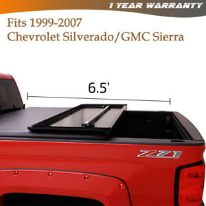 Tri Fold Tonneau Cover Fit 1999 2006 Chevy Silverado 1500 2500 3500 6 5 Ft Bed