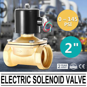 2 Npt Brass Electric Solenoid Valve Water Gas Oil Semi direct Lift 110v Ac
