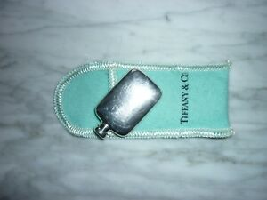 Tiffany Co Sterling Silver Perfume Bottle With Tiffany Pouch