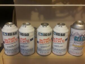 4 Dupont R12 Refrigerant 12oz Full Weighed Cans