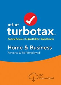 Turbotax Home And Business 2018 Federal state efile Pc Edition