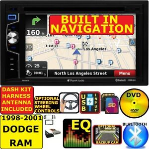 98 99 00 01 Dodge Ram Gps Navigation Cd dvd Bluetooth Usb Car Radio Stereo Pkg