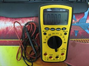 Ideal Industries 61 340 Test Pro Digital Multimeter With Leads Free Ship