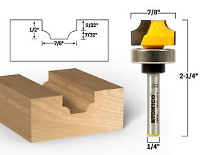 7 32 Radius Round Over Groove Router Bit 1 4 Shank Yonico 13081qt