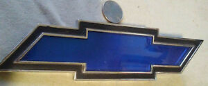 Vintage Chevy Chevrolet Blue Bowtie Hood Trunk Emblem No Rust Or Pits
