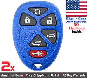 2x New Replacement Keyless Remote Key Fob For Gmc Chevy Cadillac Shell Only