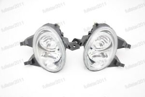 Clear Front Bumper Driving Fog Light Lamps For Peugeot 206 206cc 1999 2005