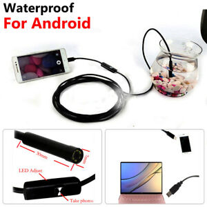 2m Endoscope Ip67 Borescope Micro Usb Inspection Video Camera For Android