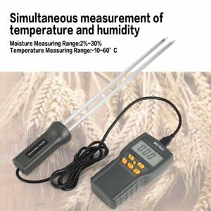 Md7822 Digital Grain Moisture Meter Temperature Thermometer Humidity 1h