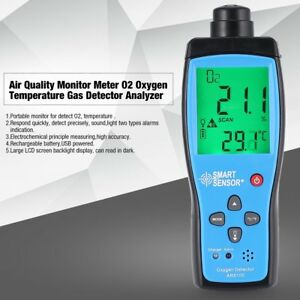 Air Quality Monitor Meter O2 Oxygen Temperature Gas Detector Analyzer Tester 3o