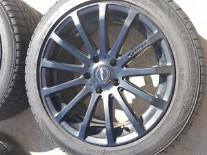 Used Mrr Hr9 Matte Black 18inch Rims With Slightly Used Sumitomo Tires Qty 4