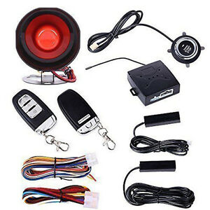 New Car Alarm System Keyless Entry Engine Ignition Push Starter Button Kit Set