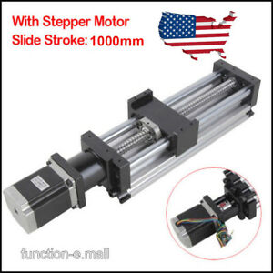 1000mm Ball Screw Linear Cnc Slide Stroke Long Stage Actuator Stepper Motor Usa