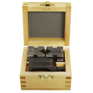 1 5 8 X 1 1 4 X 1 1 4 Precision V Blocks Clamp Set Steel Gauge Machinist