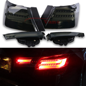 Fit For Honda Accord 2008 2012 1pair Lh rh Bmw Style Smoke Led Rear Tail Lights