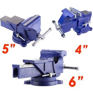 4 6 Cast Iron Work Bench Vice Engineer Swivel Base Workshop Vise Clamp Wx