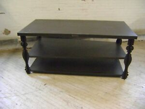 Retail Dark Brown David Bitton Buffalo Fancy Leg 3 Shelf Retail Display Table