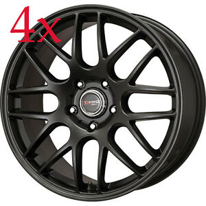 Drag Wheels Dr 37 20x8 5 5x120 20 Black Rims For Tesla Model S Acura Mdx Tl Tls