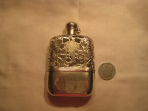 Sterling Silver Overlay Flask