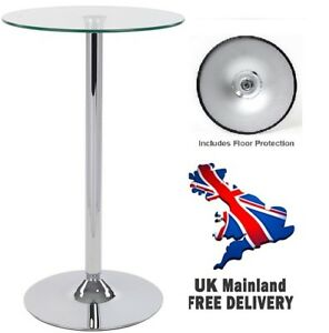 Round Glass Table Exhibition Trade Show Conference Retail Display Podium Stand