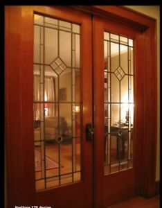 Beautiful Interior Heritage Doors Genuine Lead Glass Handcrafted Pre Hung