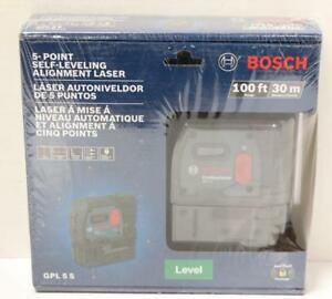 New Bosch Gpl 5 S Professional 5 point Alignment Self Leveling Laser Level