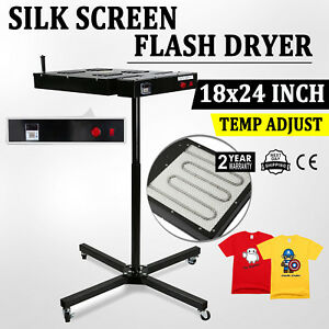 18 X 24 Flash Dryer Silkscreen T shirt Screen Printing Curing Adjustable Height