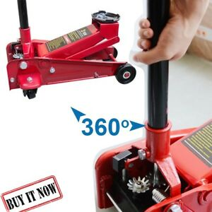 3ton Heavy Duty Steel Floor Jack With Rapid Pump Lift Car Vehicle Garage Shop
