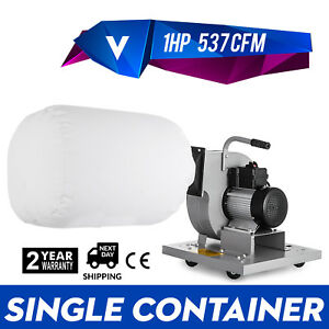 1 Hp Light Duty Industrial Dust Collector 537 Cfm Industrial Impeller Promotion