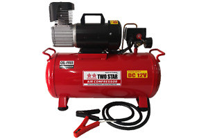 Two Star 24vdc Professional Portable Oil Free Air Compressor With 25 Liters Tank
