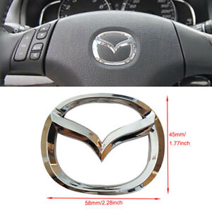 Steering Wheel Chrome Logo Emblem Mazda 3 M3 Badge Decal 2006 2012 Abs Us Ship