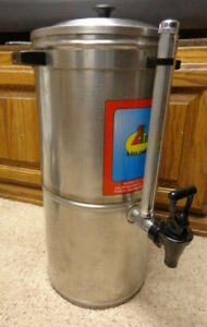 Commercial Stainless Steal Iced Tea Dispenser W view Tube