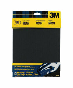 3m Emery Cloth Sandpaper Coarse Fine Medium 9 X 11 Metal Pack Of 10