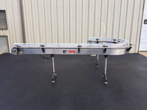 Ams 4 5 Inch Wide X 11 Feet Long Stainless Steel Conveyor With 180 Degree Curve